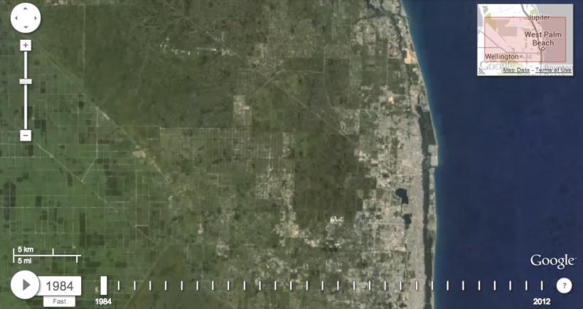 Timelapse satellite imagery