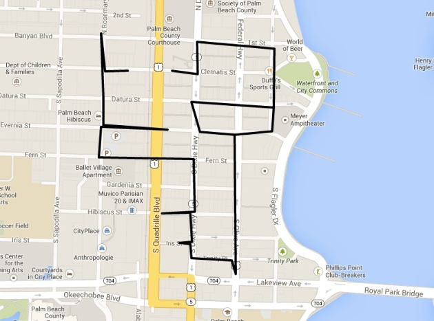 This was the walking route