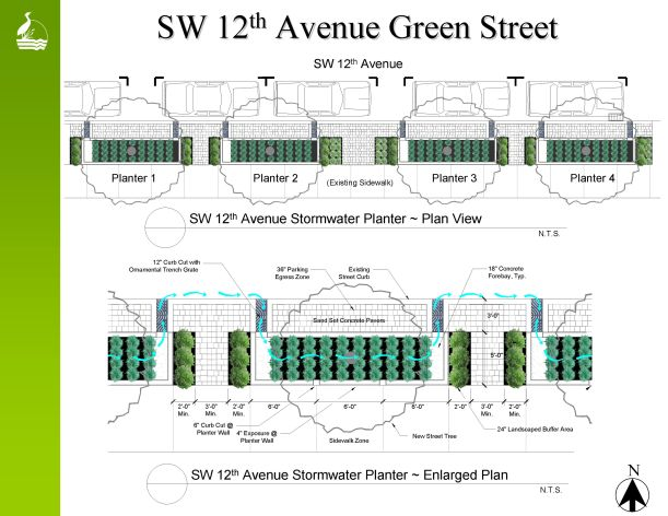 SW 12th St. Portland Oregon image courtesy of Sustainable Stormwater Management Program