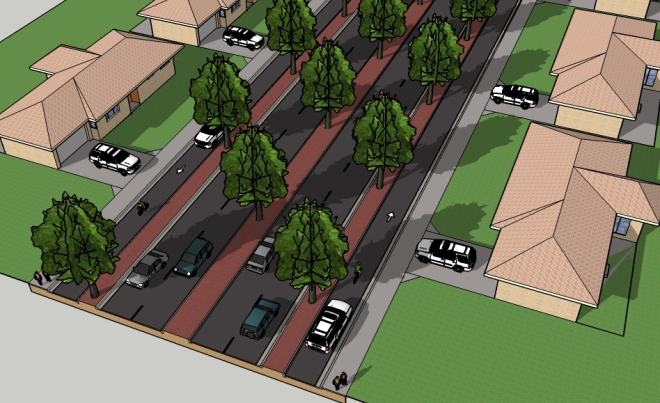 Australian Avenue - Proposed Multiway Boulevard