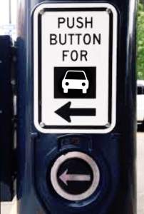 Drivers: Simply press this button to cross