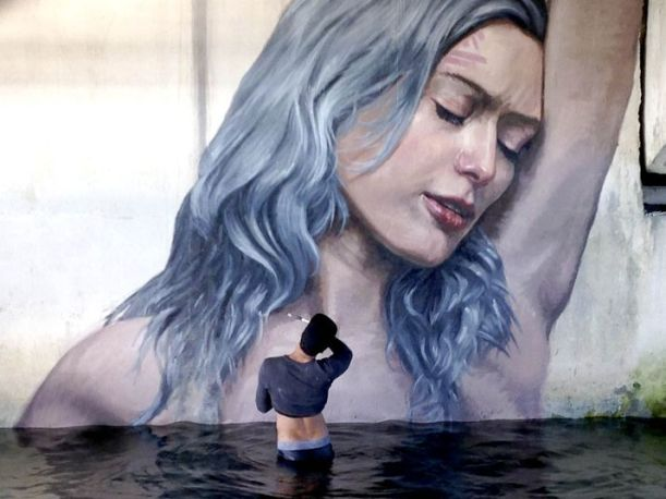 "Hula's painting, ""Clara"". Photo: The Palm Beach Post"