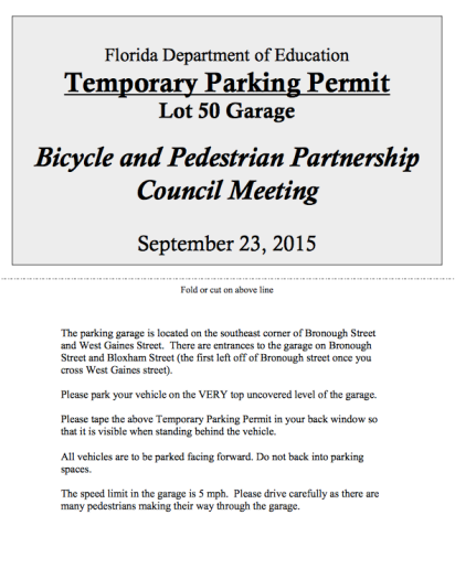 Sure wish non-motorized modes had been considered at a bike/ped meeting!