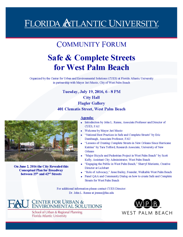 Safe and Complete Streets in WPB Flyer (2)